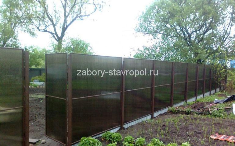 изготовление заборов из поликарбоната в Ставрополе