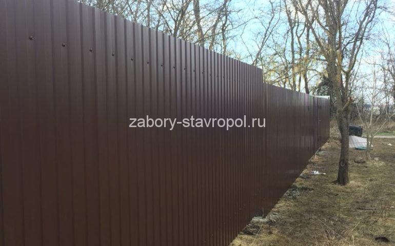 забор из профлиста в Ставрополе